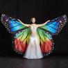Ailes d'isis ouvertes papillon couleur rainbow