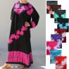 Djellaba femme décor tie dye et paillettes