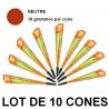 Lot de 10 cônes henné Mirchi Golecha couleur Rouge/Marron