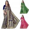 Sari motifs indiens doré antique