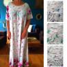 Robe d'intérieur manches courtes style pyjama