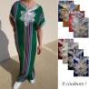 Gandoura style marocaine à rayures multicolores