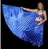 Ailes d'isis de danse orientale bleu roy opaque