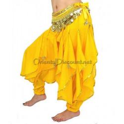 Sarouel de danse orientale jaune