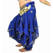 Sarouel de danse orientale bleu roy doré