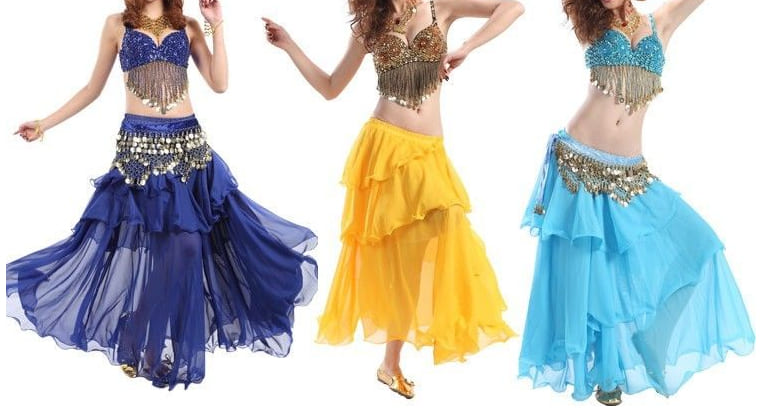 exemple de tenue de danse orientale avec ce soutien gorge