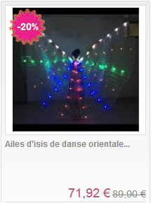 Ailes d'isis lumineuse a led classique