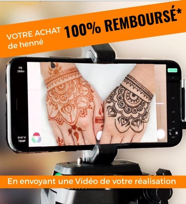 Votre commande de henné 100% remboursée * !