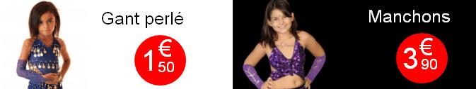 Liquidation manchons danse orientale pour petite fille