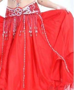 ceinture de danse orientale assortie rouge