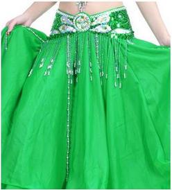 ceinture de danse orientale pour la scene verte