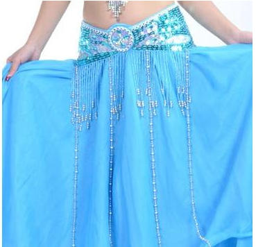 ceinture de danse orientale turquoise 3 tailles